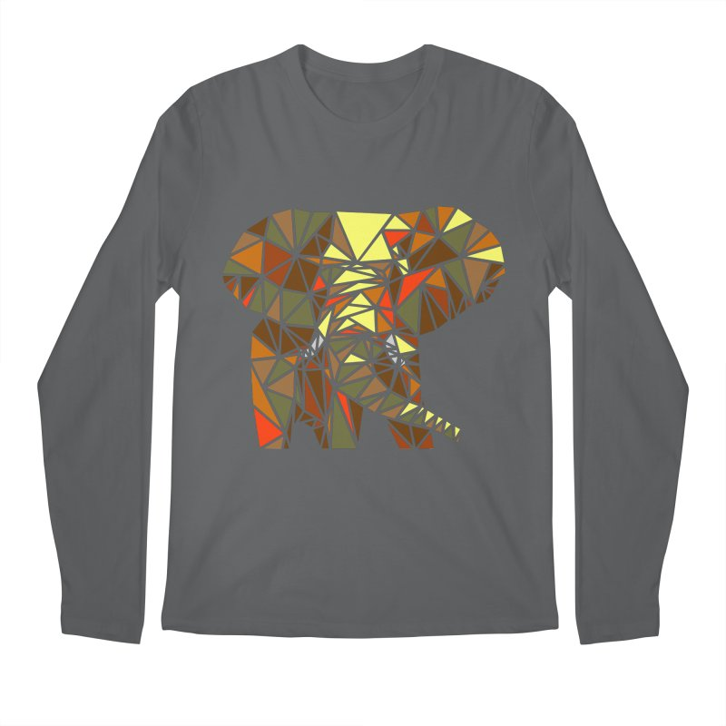 Patchwork Elephant Men's Longsleeve T-Shirt by Armando's Artist Shop