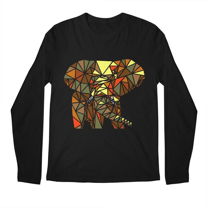 Patchwork Elephant Men's Regular Longsleeve T-Shirt by Armando's Artist Shop