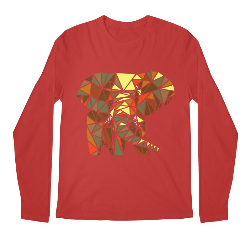 Patchwork Elephant Men's Regular Longsleeve T-Shirt by Armando's Artist Shop