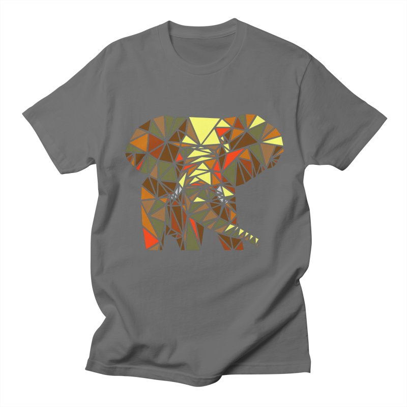 Patchwork Elephant Men's T-Shirt by Armando's Artist Shop
