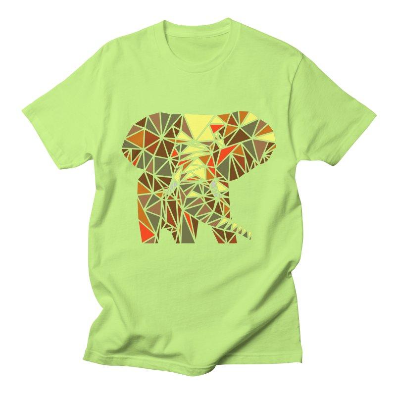 Patchwork Elephant Men's T-Shirt by Armando's Artist Shop