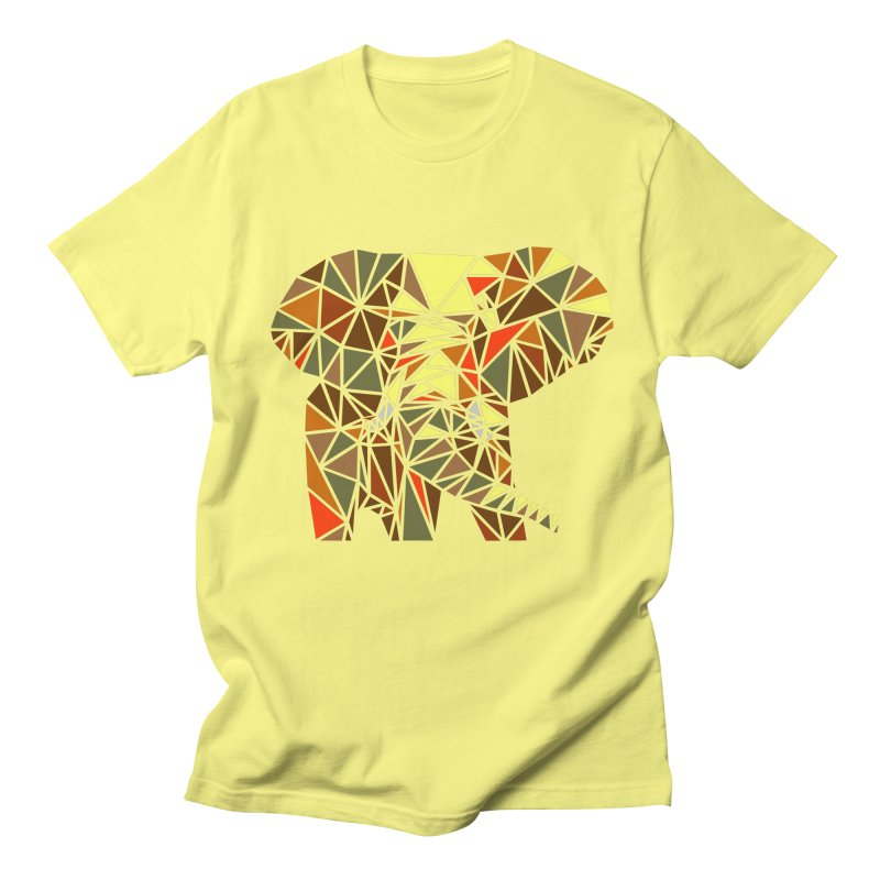 Patchwork Elephant Men's Regular T-Shirt by Armando's Artist Shop
