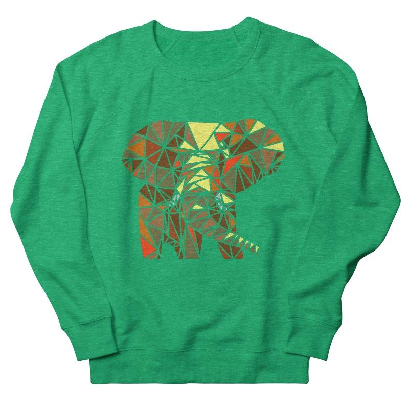 Patchwork Elephant Women's Sweatshirt by Armando's Artist Shop