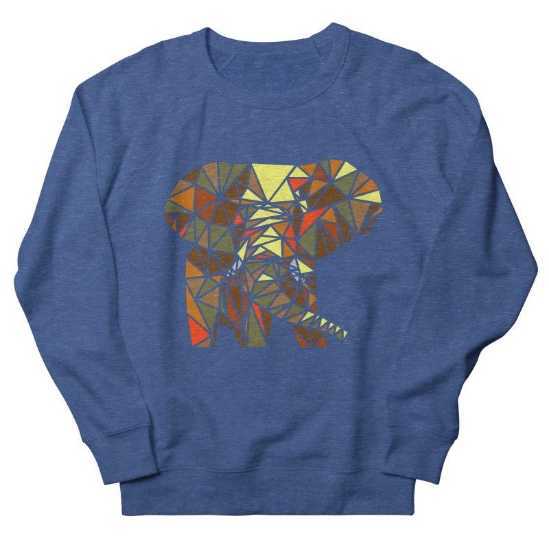 Patchwork Elephant Women's French Terry Sweatshirt by Armando's Artist Shop