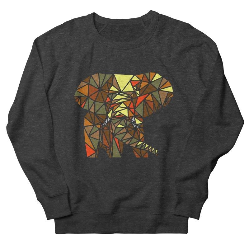 Patchwork Elephant Men's French Terry Sweatshirt by Armando's Artist Shop