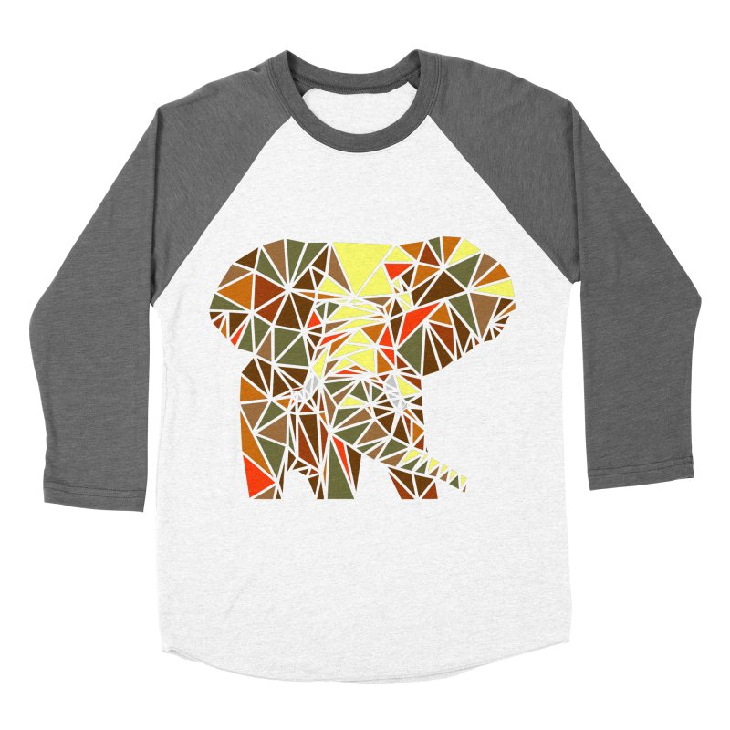 Patchwork Elephant Women's Longsleeve T-Shirt by Armando's Artist Shop