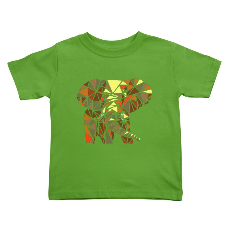 Patchwork Elephant Kids Toddler T-Shirt by Armando's Artist Shop