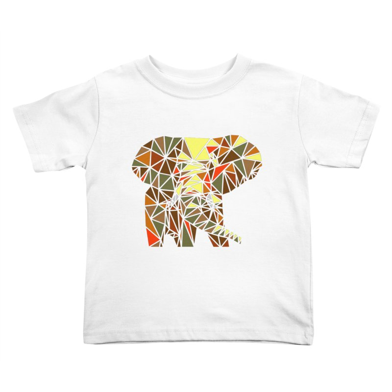 Patchwork Elephant Kids Toddler T-Shirt by Armando's Artist Shop