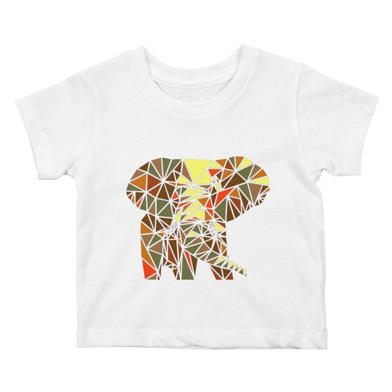 Patchwork Elephant Kids Baby T-Shirt by Armando's Artist Shop