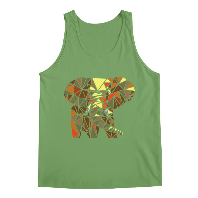 Patchwork Elephant Men's Tank by Armando's Artist Shop