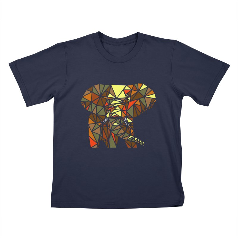 Patchwork Elephant Kids T-Shirt by Armando's Artist Shop