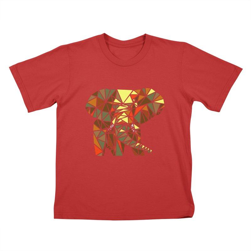 Patchwork Elephant Kids T-Shirt by Armando's Artist Shop