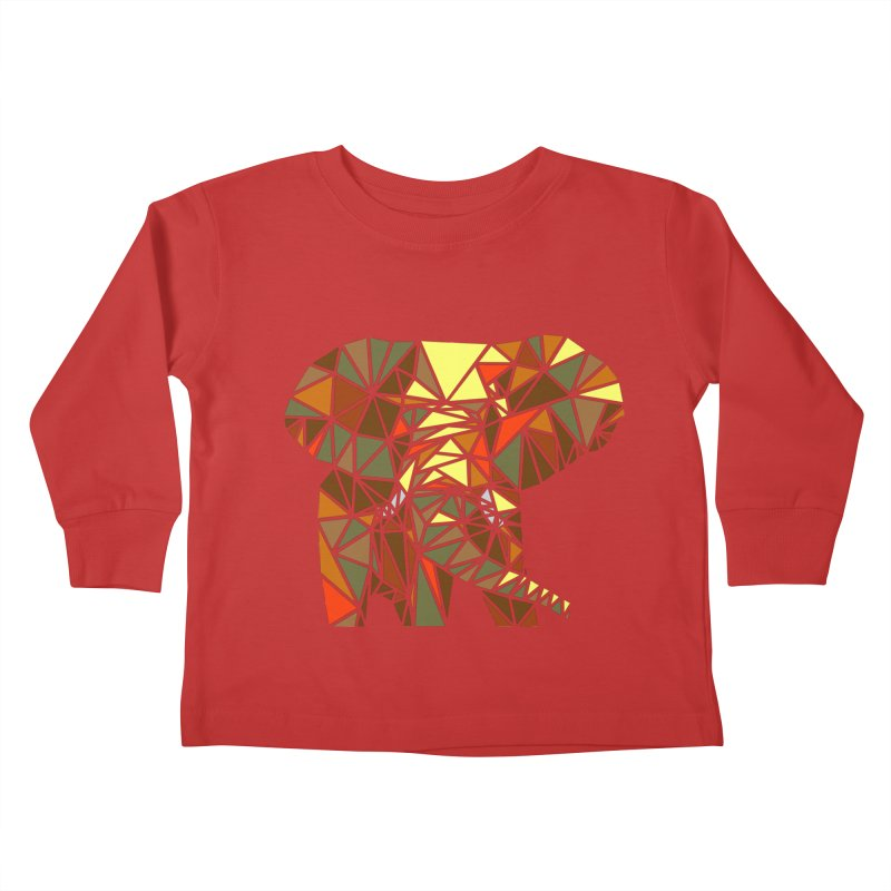 Patchwork Elephant Kids Toddler Longsleeve T-Shirt by Armando's Artist Shop