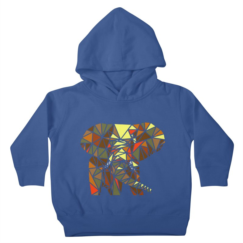 Patchwork Elephant Kids Toddler Pullover Hoody by Armando's Artist Shop