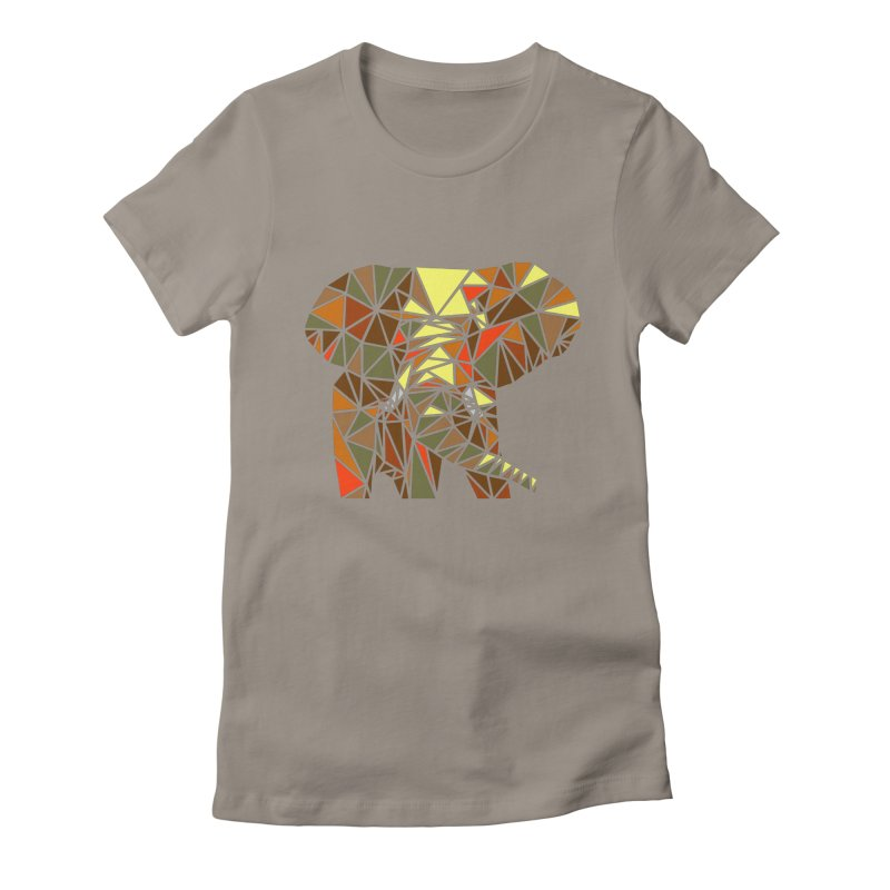 Patchwork Elephant Women's Fitted T-Shirt by Armando's Artist Shop