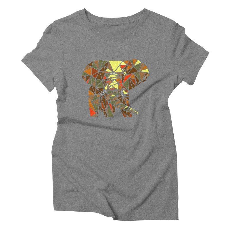 Patchwork Elephant Women's Triblend T-Shirt by Armando's Artist Shop
