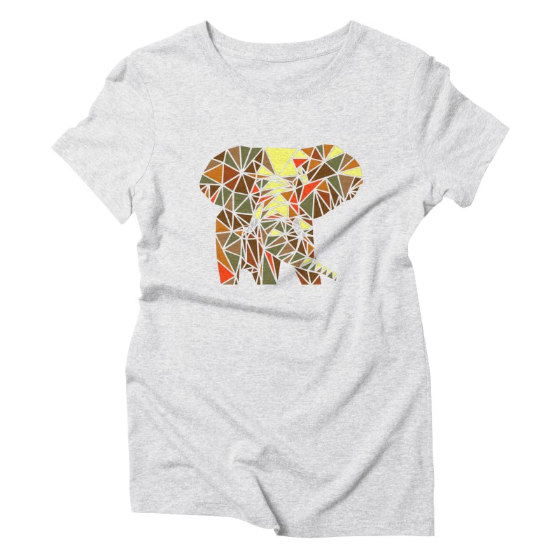 Patchwork Elephant Women's Triblend T-Shirt by Armando's Artist Shop