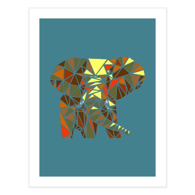 Patchwork Elephant Home Fine Art Print by Armando's Artist Shop