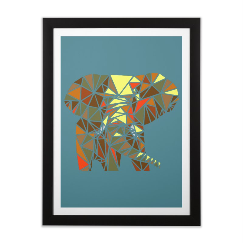 Patchwork Elephant Home Framed Fine Art Print by Armando's Artist Shop