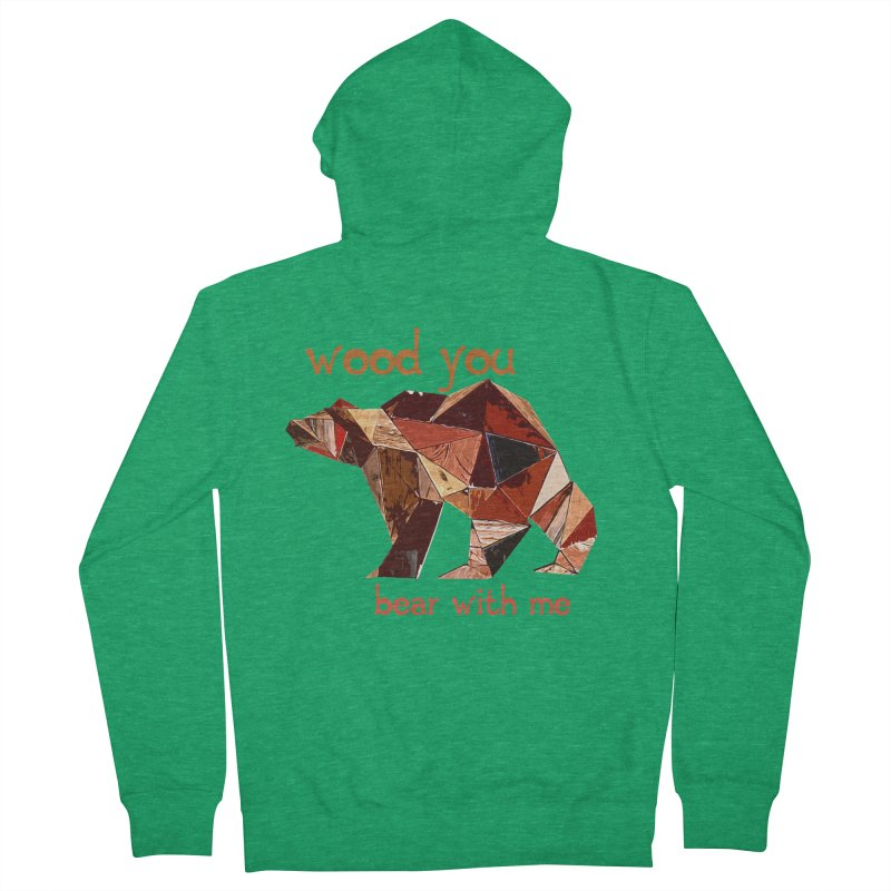 Wood You Bear With Me Men's Zip-Up Hoody by Armando's Artist Shop