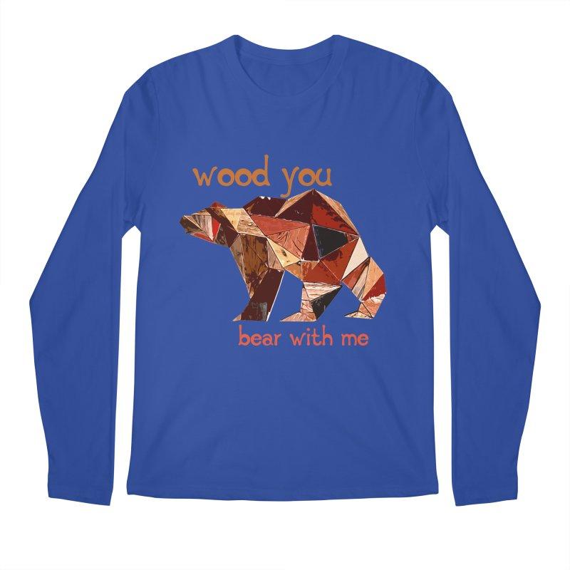 Wood You Bear With Me Men's Regular Longsleeve T-Shirt by Armando's Artist Shop