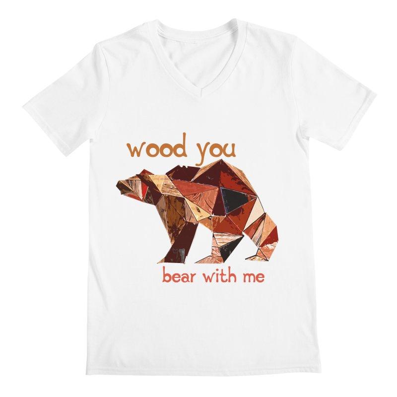 Wood You Bear With Me Men's Regular V-Neck by Armando's Artist Shop