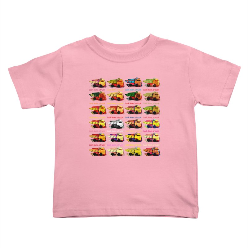 Look Mom, a truck! Kids Toddler T-Shirt by Armando's Artist Shop