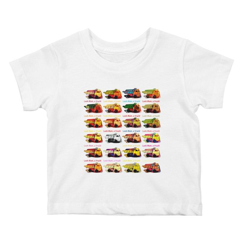 Look Mom, a truck! Kids Baby T-Shirt by Armando's Artist Shop