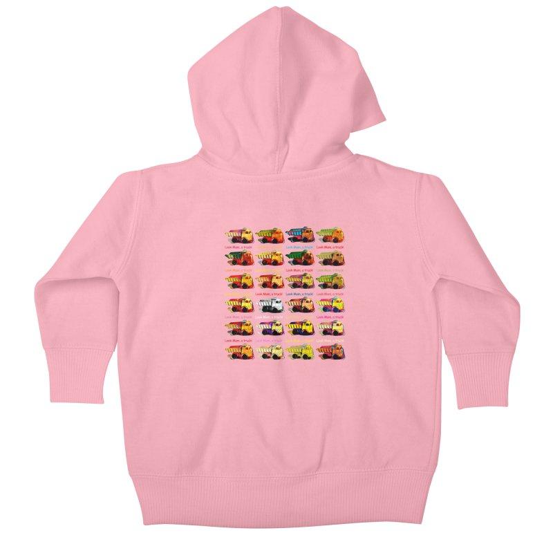 Look Mom, a truck! Kids Baby Zip-Up Hoody by Armando's Artist Shop