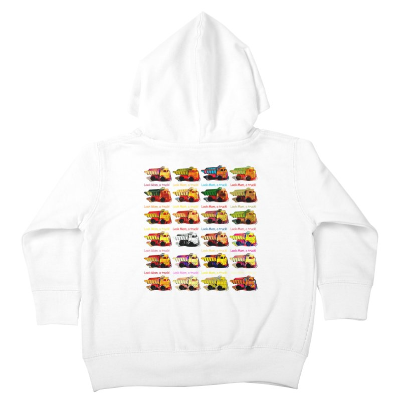 Look Mom, a truck! Kids Toddler Zip-Up Hoody by Armando's Artist Shop