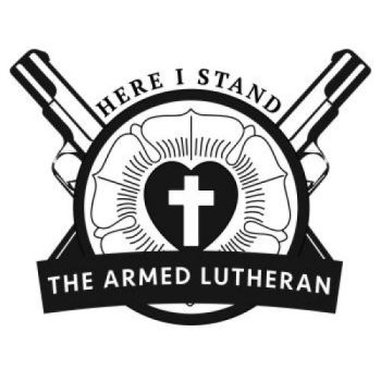 Armed Lutheran Radio Shop Logo