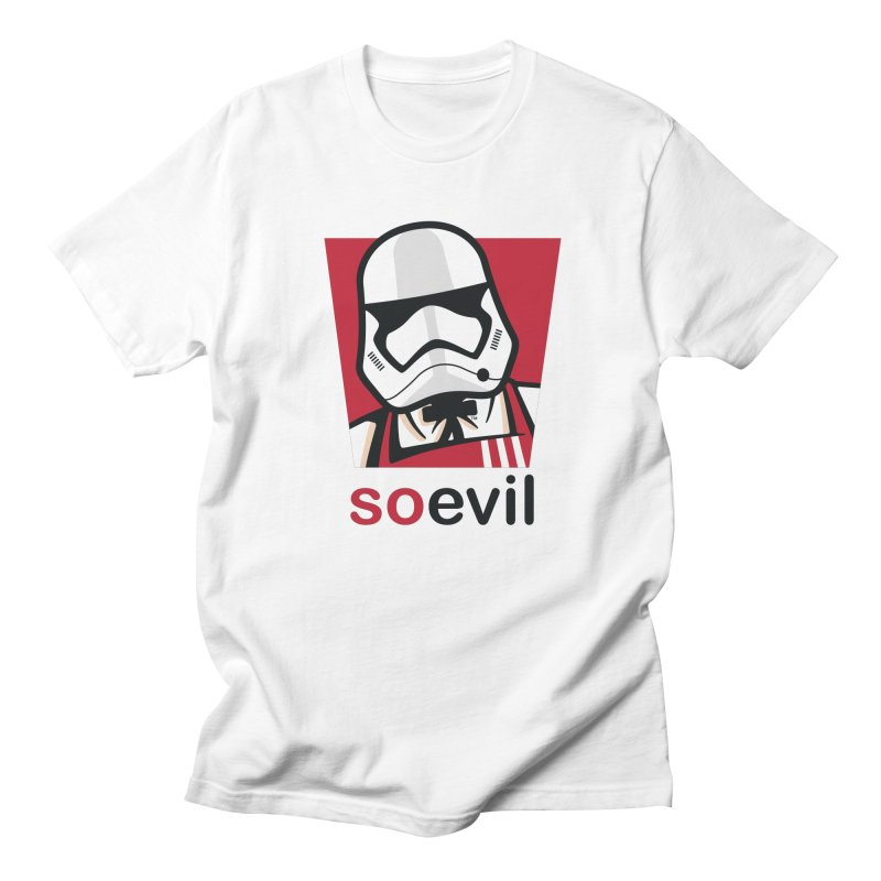 Stormtrooper Fried Chicken Men's T-Shirt by Armellino Design