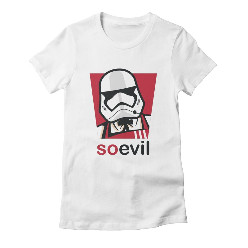 Stormtrooper Fried Chicken Women's T-Shirt by Armellino Design