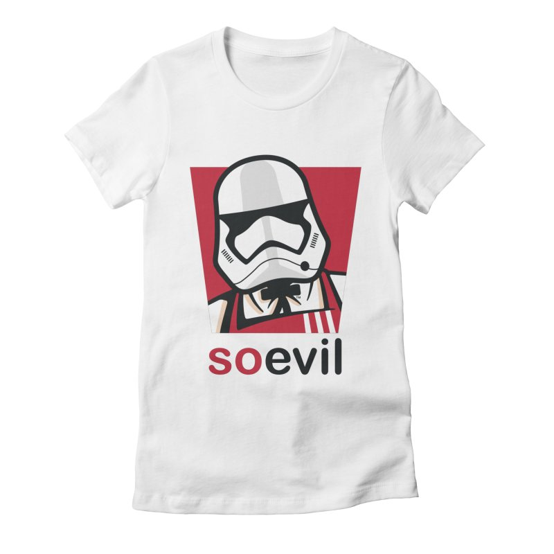 Stormtrooper Fried Chicken Women's Fitted T-Shirt by Armellino Design