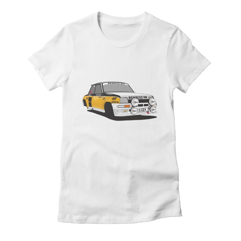 Renault 5 Turbo Women's Fitted T-Shirt by Armellino Design