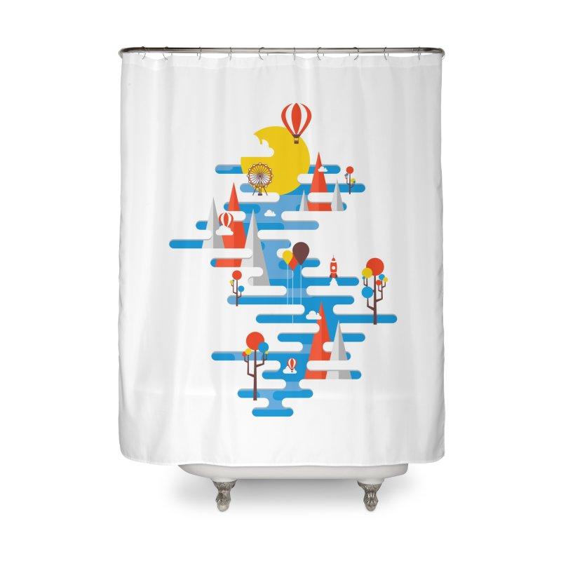 A Beautiful Day Home Shower Curtain by Arrivesatten Artist Shop