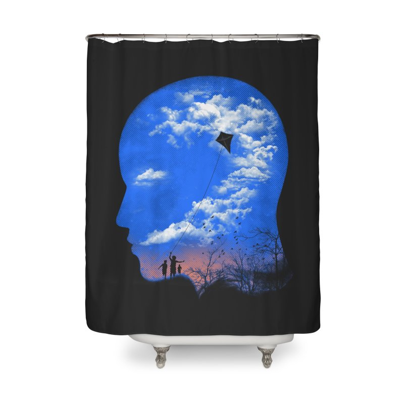 Flying Kite Home Shower Curtain by Arrivesatten Artist Shop