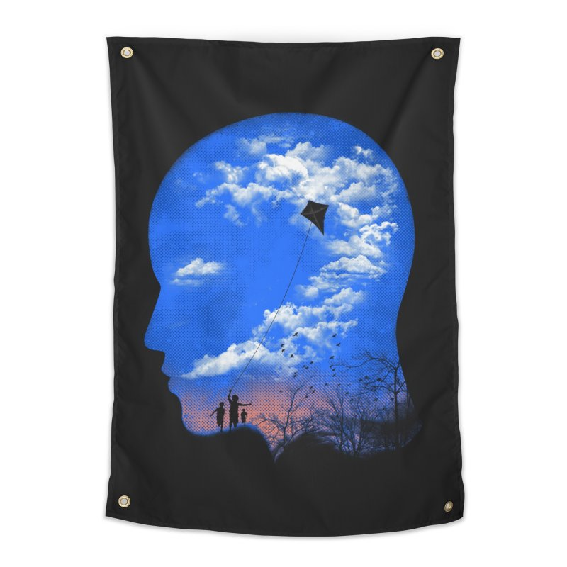 Flying Kite Home Tapestry by Arrivesatten Artist Shop