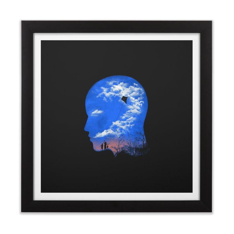 Flying Kite Home Framed Fine Art Print by Arrivesatten Artist Shop