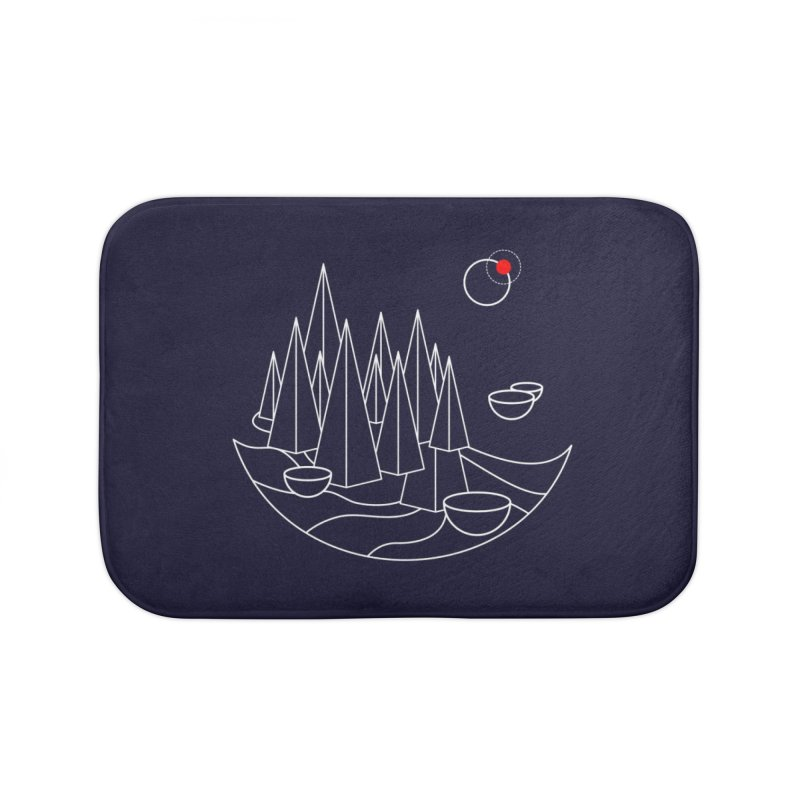 Visit Utopia Home Bath Mat by Arrivesatten Artist Shop