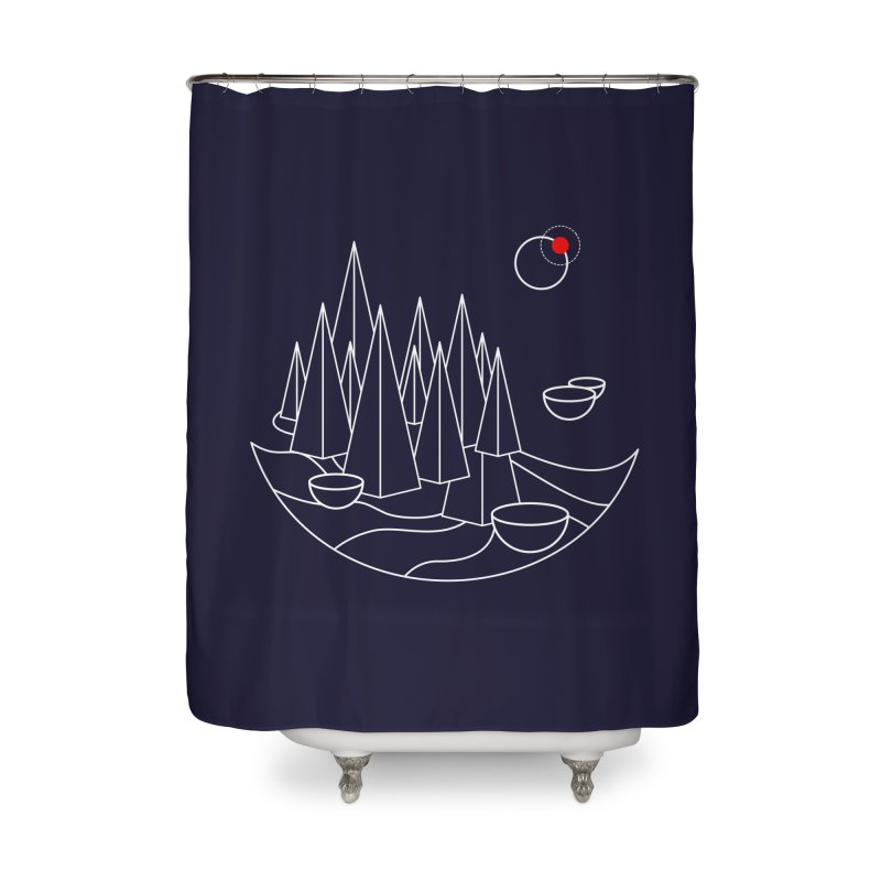 Visit Utopia Home Shower Curtain by Arrivesatten Artist Shop