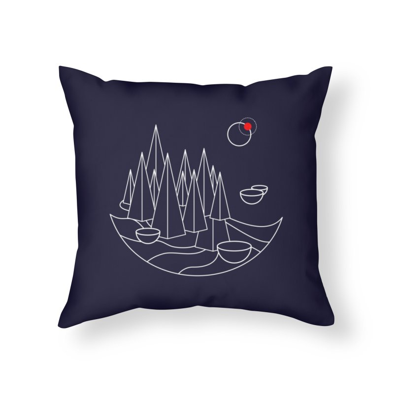 Visit Utopia Home Throw Pillow by Arrivesatten Artist Shop