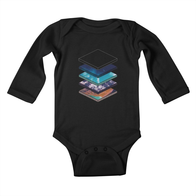 Layers Kids Baby Longsleeve Bodysuit by Arrivesatten Artist Shop