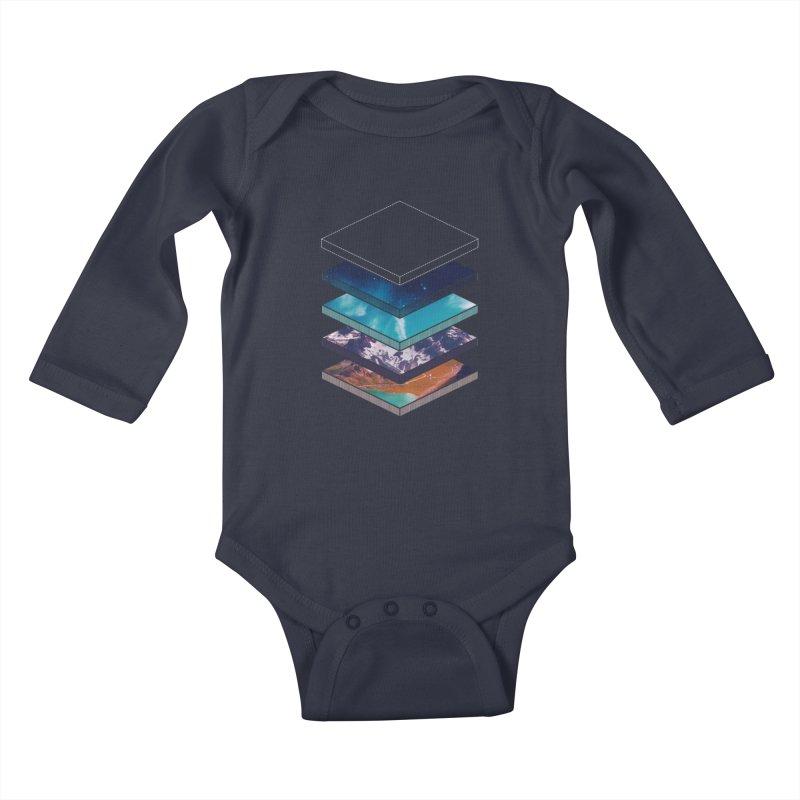 Layers Kids Baby Longsleeve Bodysuit by Arrivesatten Artist Shop