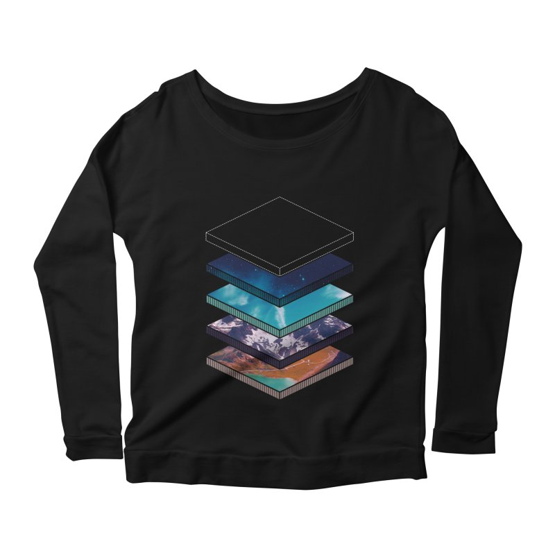 Layers Women's Longsleeve Scoopneck  by Arrivesatten Artist Shop