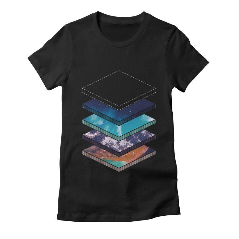 Layers Women's Fitted T-Shirt by Arrivesatten Artist Shop