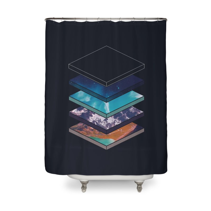 Layers Home Shower Curtain by Arrivesatten Artist Shop