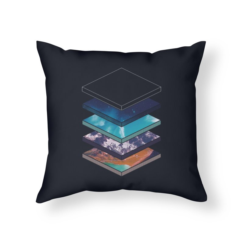 Layers Home Throw Pillow by Arrivesatten Artist Shop