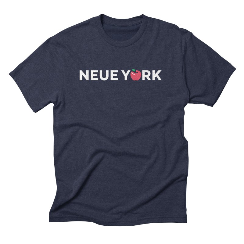 The Big Apple in Men's Triblend T-shirt Navy by Arrivesatten Artist Shop