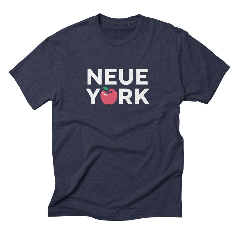 The Big Apple in Men's Triblend T-Shirt Navy by Arrivesatten Artist Shop